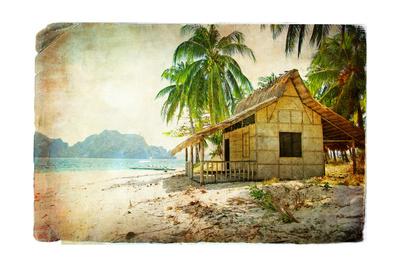 Tropical Bugalow -Retro Styled Picture Posters by  Maugli-l
