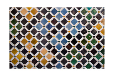Colorful Tiles, Arabic Style, In The Alhambra, Granada Poster by  ArtOfPhoto