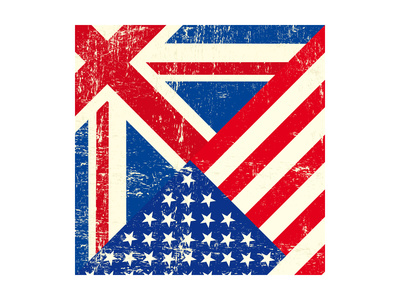 Uk And American Grunge Flag Prints by  TINTIN75