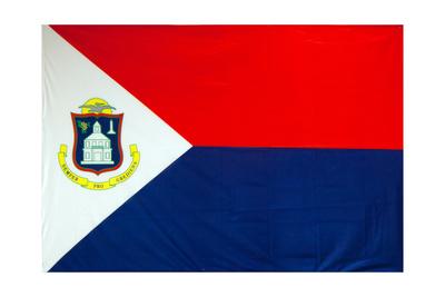 The Flag Of Sint Maarten Poster by Leonard Zhukovsky