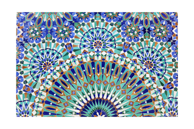 Oriental Mosaic In Morocco Print by  p.lange