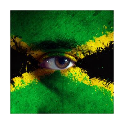 Jamaican Flag On Face Prints by igor stevanovic