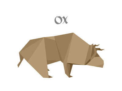 Illustration Of An Origami Ox Posters by  unkreatives