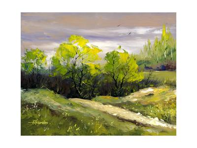 Summer Landscape Cloudy Day Prints by  balaikin2009