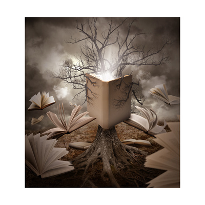 Old Tree Reading Story Book Posters by  Angela_Waye