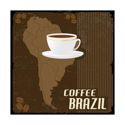 Coffee Brazil Vintage Poster Posters by  radubalint