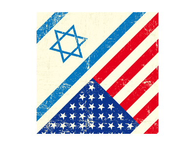 Israel And American Grunge Flag Posters by  TINTIN75