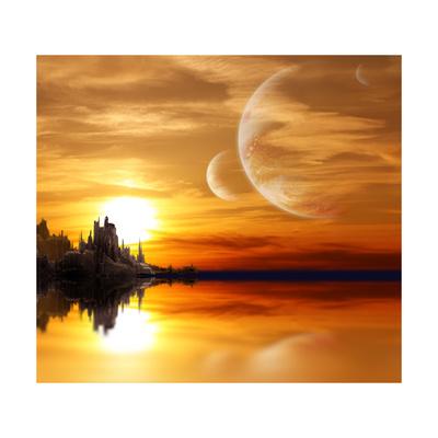 Landscape In Fantasy Planet Print by  frenta
