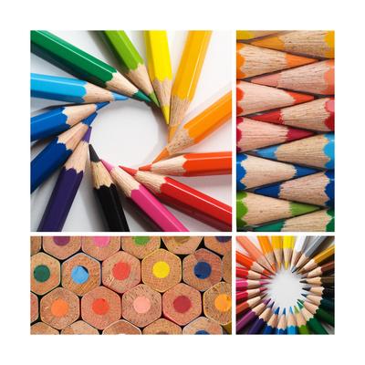 Color Pencils, Collage Prints by Loskutnikov Maxim