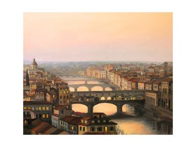 Florence Ponte Vecchio Posters by  kirilstanchev
