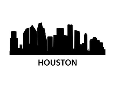 Skyline Houston Prints by  unkreatives