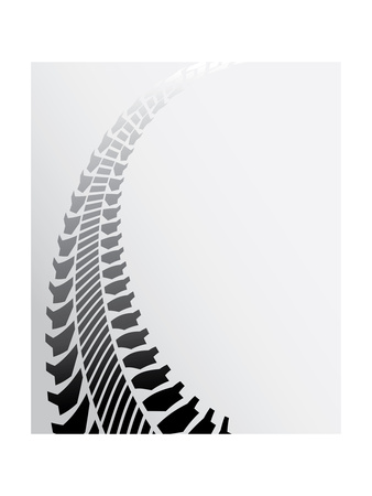 Tire Track Background Prints by  place4design