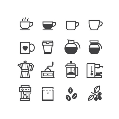 Coffee Icons Poster by  pking4th