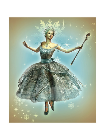 Snowflake Princess Art by Atelier Sommerland