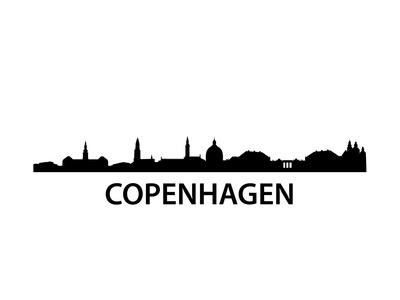 Skyline Kopenhagen Prints by  unkreatives
