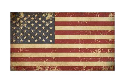 Usa Aged Flat Flag Posters af  nazlisart