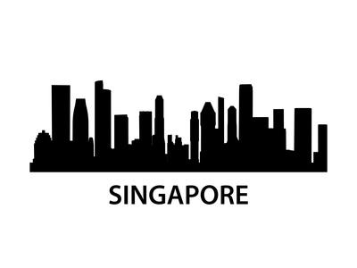 Skyline Singapore Art by  unkreatives