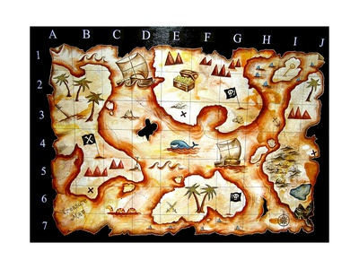 Treasure Map Posters av  prawny