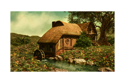 The Water Mill Print by Atelier Sommerland