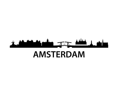 Skyline Amsterdam Posters by  unkreatives
