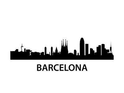 Skyline Barcelona Prints by  unkreatives