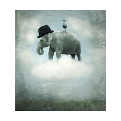 Fantasy Elephant Flying Posters by  ValentinaPhotos