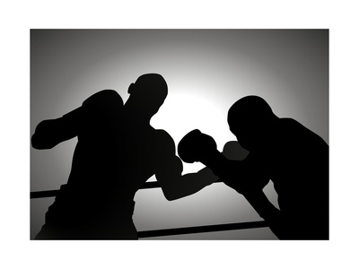 Boxing Print by  Rudall30