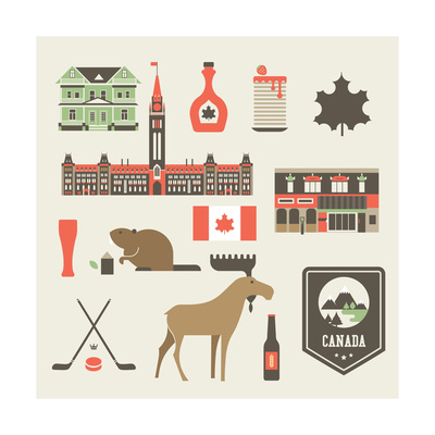 Canada Icons Posters by vector pro