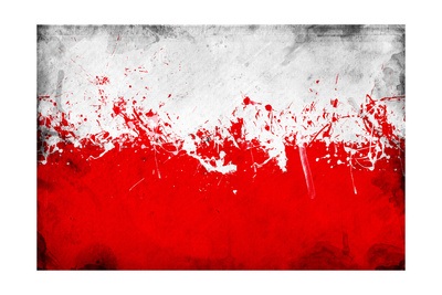 Poland Flag Prints by igor stevanovic