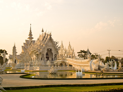 Wat Rong Khun At Chiang Rai, Thailand Photographic Print by  gururugu