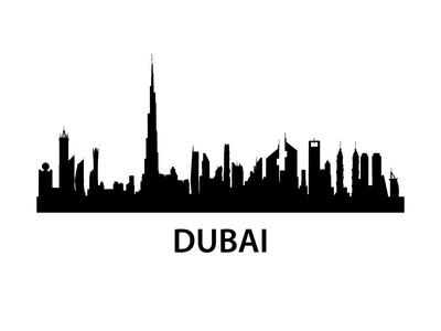 Dubai Skyline Poster by  unkreatives