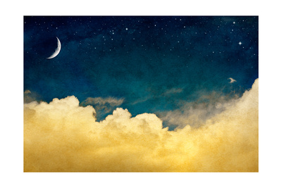 Moon And Cloudscape Posters by  DavidMSchrader
