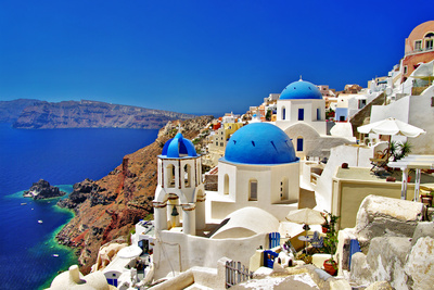 Amazing Santorini Greek Islands buildings summer scenes photo by Maugli I
