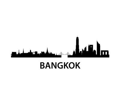 Bangkok Skyline Posters by  unkreatives
