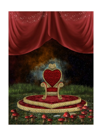 Magic Throne Print by  justdd