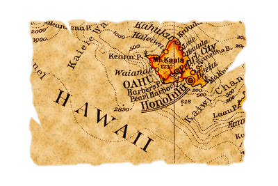 Honolulu Old Map Prints by  Pontuse