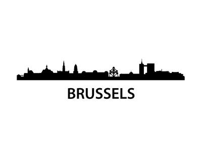 Skyline Brussels Prints by  unkreatives
