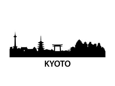Skyline Kyoto Prints by  unkreatives