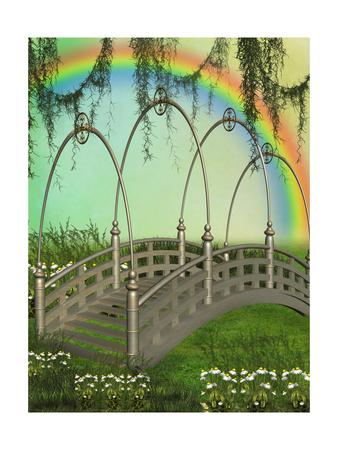 Fantasy Bridge Prints by  justdd