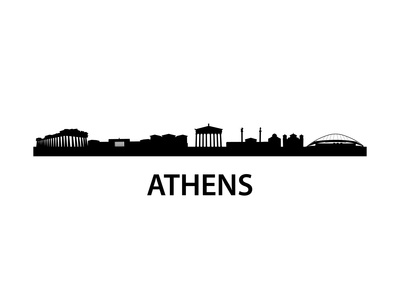 Skyline Athens Poster by  unkreatives