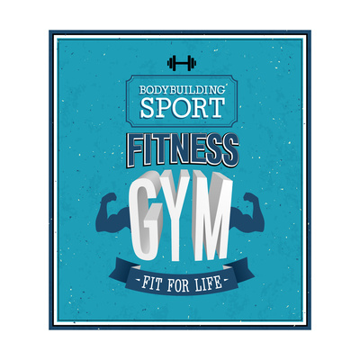 Fitness Gym Design Poster by  MiloArt