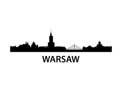 Skyline Warsaw Prints by  unkreatives