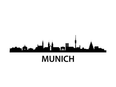 Munich Skyline Poster by  unkreatives