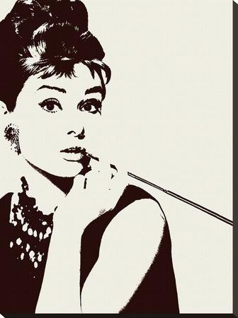 Audrey Hepburn-Cigarello Sträckt kanvastryck