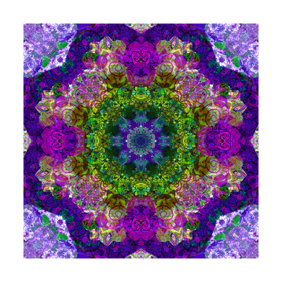 Purple Flower Mandala Sandra Prints by Alaya Gadeh