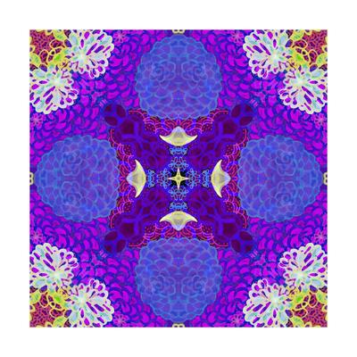 Purple Flower Mandala Drawing Posters by Alaya Gadeh