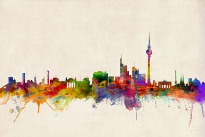 Berlin Germany Skyline Posters by Michael Tompsett