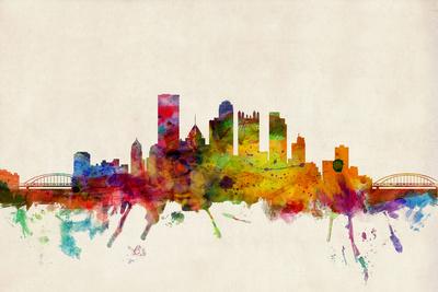 Pittsburgh Pennsylvania Skyline Prints by Michael Tompsett