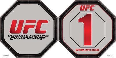 UFC Round Card - Double Sided Foam Core Cardboard Cutouts