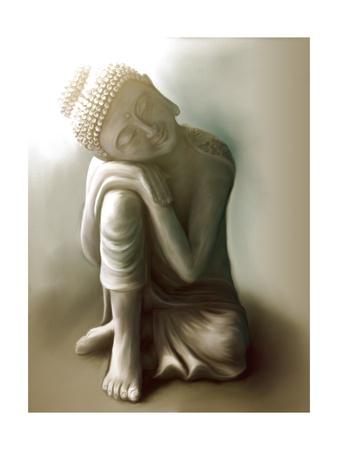 Resting Buddha Prints by Christine Ganz